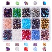 Clay Pave Disco Ball Crystal Beads Mixed Color Large Hole Beads For Diy Jewelry Making Hearty 1 Boxed 100pcs