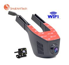 [Visit to Buy] V5 Car DVR 1080p 170 Wide Angle Dashboard Camera Recorder Car Dash Cam with G-Sensor, WDR, Loop Recording WIFI with rear camera #Advertisement