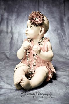 6 month old baby shoot. Accessories by https://www.facebook.com/HairCandyShop photography by Robbins Photography