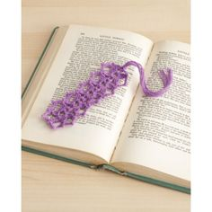 Daisy Chain Bookmark - easy (free pdf instructions - stash buster)