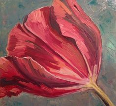 "Saatchi Online Artist: Anna Kodesch; Oil, 2012, Painting ""tulip"""