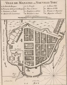 In New York was a small fort and trading post on the tip of Manhattan. 27 Maps Showing How NYC Evolved New York City Map, City Maps, Manhattan New York, Old Maps, Antique Maps, Vintage Maps, Carte New York, Norman, National Geographic Maps