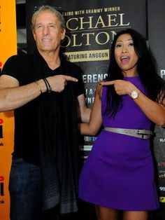 At press conference with Anggun in Jakarta, Indonesia, 1st June, 2015.
