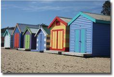 Brighton Bay Beach Huts Melbourne Australia