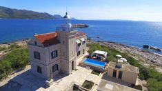 Lighthouse Korcula - Luxury lighthouse with pool, on a private Croatian island Croatian Islands, Villa, Adriatic Sea, Am Meer, Jacuzzi, Lighthouse, Boat, Strand Pool, Mansions