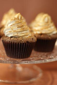 Cupcakes chocolat, coeur de spéculoos