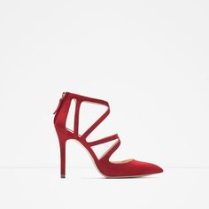ZARA - WOMAN - CROSSOVER LEATHER HIGH HEEL SHOES