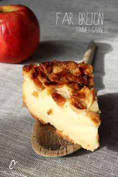 Far breton pommes cannelle. délicieux souvenirs!