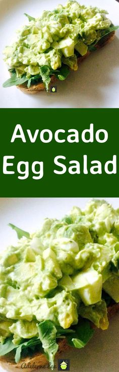 Avocado Egg Salad is a wonderful easy recipe and very quick to make. Serve as a salad in a bowl or with some crusty bread warm from the oven. Delicious! Great for brunch, lunch or supper or party food! | Lovefoodies.com