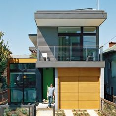Simpatico Prototype: Location: Emeryville, California Designers: Swatt | Miers Architect, Seth Krubiner  The prefab uses a panelized construction system. The home includes an all-electric net zero energy design, hydronic radiant heating, 6.2 kw solar panel array, living green roof and rainwater catchment system. The residence was designed to achieve a LEED Platinum for Homes rating and actually sells energy back to the grid as a result of the 30 panel solar system. Energy conservation is…