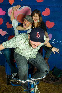 Fun with a photobooth at a party. The theme: Love on wheels.