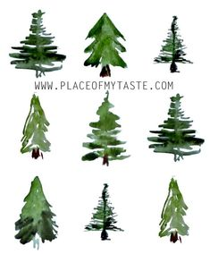 Watercolor Christmas Tree, Watercolor Trees, Christmas Paintings, Christmas Drawing, Watercolor Cards, Christmas Art, Watercolor Illustration, Watercolor Paintings, Watercolor Landscape