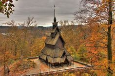 Fantoft Stavkirke, Bergen. I been to this stave  church. Incredible!