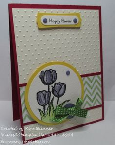stamping imperfection make the easter cards.  :))