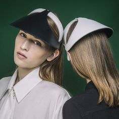 Leather visors  SS17 collection Visors, Hat Making, Showroom, Captain Hat, Hats, Leather, Collection, Fashion, Moda