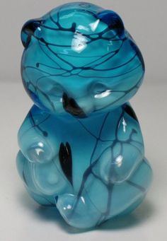 Fenton White Milk Glass Encased in Ice Blue and Blue Hanging Hearts Hollow Bear | eBay