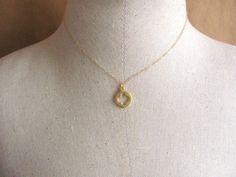 Charm halskette gold