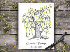 The Guest Fingerprint Arts will come to you on high-quality luxury artist paper with archival and fade-resistant ink. Wedding Tree Guest Book, Guest Book Tree, Tree Wedding, Wedding Book, Fingerprint Wedding, Fingerprint Art, Wedding Posters, Wedding Guest Book Alternatives, Wedding Keepsakes