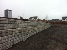 CPM Group have just completed another Redi-Rock wall for Bellway Homes at their St James Mews site in Dudley. CPM designed the wall and supplied the large modular Redi-Rock blocks whilst CPM's approved contractor Gatwick Construction installed it. Bellway Homes, Site Manager, Drainage Pipe, Modular Walls, High Walls, Rock Wall, Cost Saving, Retaining Walls, 8 Days