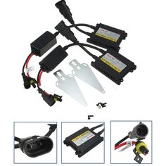 Pair DC12V Slim HID Replacement Ballast Xenon Conversion Kit Universal. Specification:    power Consumption: 35watts (35w /-2w)  input Voltage: Dc 12v  output Voltage:ac 12v  working Current:3.5a  ignition Voltage: 24kv Peak Max, 18kv Peak Min  lamp Frequency: 450 Hz  life Time: >2000hours    fit:    -----h1, H3, H4, H7, H8, H9, H10, H11, H13  -----hb1, Hb2, Hb3, Hb4, Hb5  -----9003, 9004, 9005, 9006, 9007, 9008, 9140, 9145, 880, 881 (all 800 Series Available)    note:    it Can Use For…
