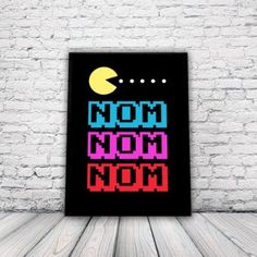 Retro Arcade Pacman Poster A3 Print, wall art, home decor, computer game: Amazon.co.uk: Kitchen & Home