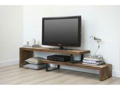 Lijn M bestelartikel TV meubel. Wood / steel combi