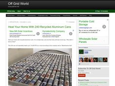 Off Grid World--heat the apartment with aluminum cans