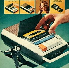 Cassette recorder: I would set mine in front of the TV and record episodes of Petticoat Junction - Cassandra Robb - Deep Nostalgia Radios, Pub Vintage, Vintage Toys 1970s, Vintage Music, Rare Historical Photos, Oldschool, Old Ads, The Good Old Days, Best Memories