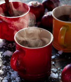 This spiked apple cider is a great twist on the classic drink. It's not complicated at all and really allows the cider and whiskey to do the talking. Spiked Apple Cider, Apple Cider Cocktail, Cider Cocktails, Spiced Cider, Spiced Rum, Cocoa, Smoothies, Spiced Apples, Holiday Drinks