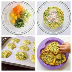 Vegetable Egg Patties - loaded with veggies and is so delicious for both babies and toddlers, ideal for baby led weaning as it is soft textured and easy to serve as finger food
