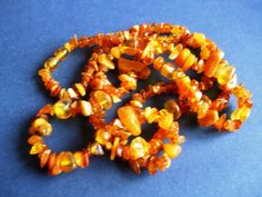 Natural Baltic Amber 27 gr Cognac Necklace jewelry 琥珀 polished carved beads #handmade
