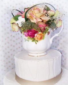 Royal Albert Cold Porcelain Rose Tea Cup