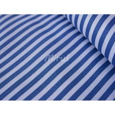 č.2458 Pruh modrý na bílé 94 kč 140 cm