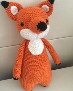 Fox by lets_have_a_yarn. Crochet pattern by Little Bear Crochets: www.littlebearcrochets.com ❤️ #littlebearcrochets #amigurumi