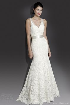modern trousseau 2014 fall bridal noa sleeveless wedding dress
