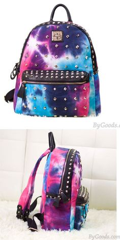 so unique schoolbag Galaxy Backpack, Lace Backpack, Diy Backpack, Backpack For Teens, Leather Backpack, College Backpacks, Cute Backpacks, Girl Backpacks, Fashion Bags