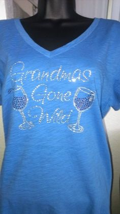wine shirts with rhinestones by Blingonit on Etsy, $25.00