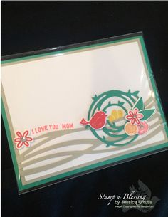 Swirly Birds Bundle - the first WOW card I've seen with this set and Ive seen many.  By Stamp a Blessing