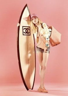 ...I would want this Chanel board..first I would need to learn to surf..tee- hee!