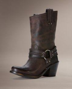 Womens Carmen Harness Short Boot - Smoke