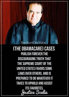 Scalia dissents. (Thank you, Justice Scalia, for speaking the truth about this Court). His death clouded by half truths, as a inconvenient truth.