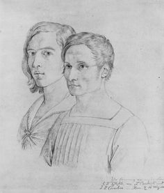 Overbeck, Johann Friedrich: Doppelporträt Peter Cornelius und Friedrich Overbeck
