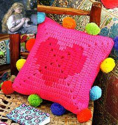 Delicadezas en crochet Gabriela: Almohadòn bien fàcil en crochet
