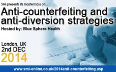Anti-counterfeiting at Holiday Inn Bloomsbury, Coram Street, London, WC1N 1HT, United Kingdom On Tuesday December 02, 2014 at 8:30 am (ends Tuesday December 02, 2014 at 1:00 pm) Hear from Mark Davison, CEO, Blue Sphere Health at this year's 'Anti-counterfeiting and anti-diversion strategies' masterclass, 2nd December 2014, London, UK, Price: £599, Speakers: Mark Davison, Category: Conferences