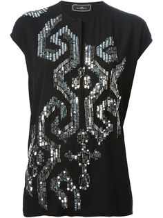 By Malene Birger Beaded T-shirt - Smets - Farfetch.com
