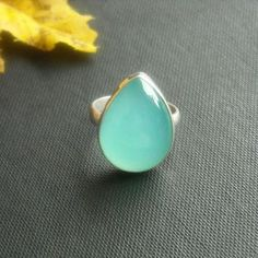 Buy Aqua rings - Aqua blue chalcedony ring - Tear drop ring - Bold ring by aStudio1980 Online at aStudio1980.com. Enjoy FREE shipping now. 100% handcrafted and original.
