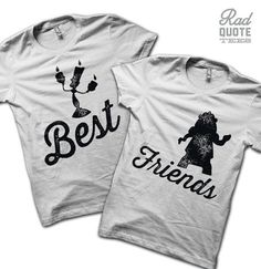 Best Friend Shirts WHITE ANVIL  - disney shirt, Beauty and the Beast shirt, pun, disney pun, funny t shirt, Best Friends, shirt, clothing,