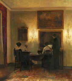 Interiør - Musikaften, Carl Vilhelm Holsøe