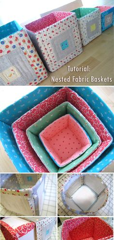 Stack & Nest Quilted Blocks Tutorial / great project for practicing patchwork and using up fabric and batting scraps. Small Sewing Projects, Sewing Hacks, Sewing Tutorials, Sewing Patterns, Purse Patterns, Sewing Ideas, Fabric Crafts, Sewing Crafts, Diy Purse Sewing