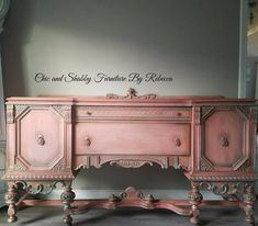 Vintage buffet Available! ❤ Morning light staging is all Cowgirl Coral needed this morning. Message for details. Painted Bedroom Furniture, Chalk Paint Furniture, Distressed Furniture, Refurbished Furniture, Plywood Furniture, Upcycled Furniture, Shabby Chic Furniture, Furniture Makeover, Antique Furniture